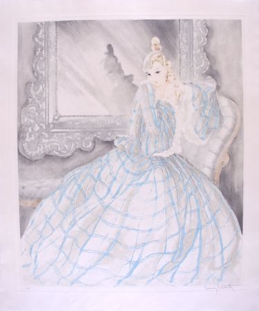 Eau-Forte Icart - Girl in Crinoline - Miroir de Venise
