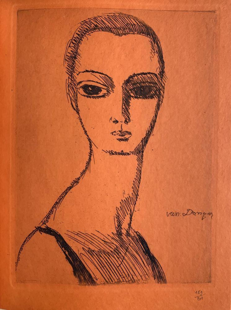 Gravure Van Dongen - Girl with Swans Neck