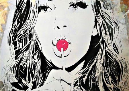 Sérigraphie Darbon - GIRL WITH THE LOLLIPOP