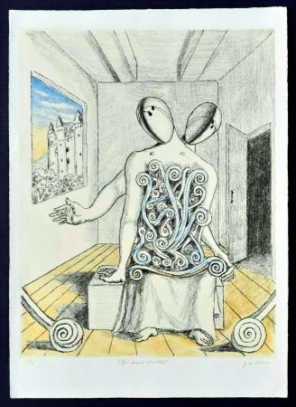 Lithographie De Chirico - Gli amici orientali