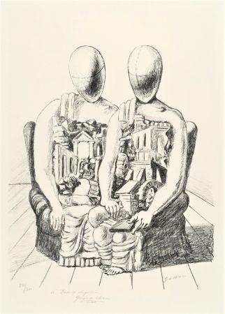 Lithographie De Chirico - Gli Archeologi
