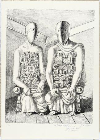 Lithographie De Chirico - Gli Archeologi V