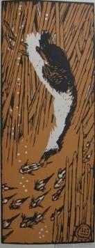 Gravure Sur Bois Méheut - Gode chassant