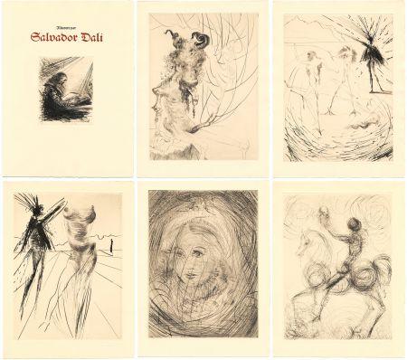 Livre Illustré Dali - GOETHE : FAUST. 21 gravures de Salvador Dali (1969