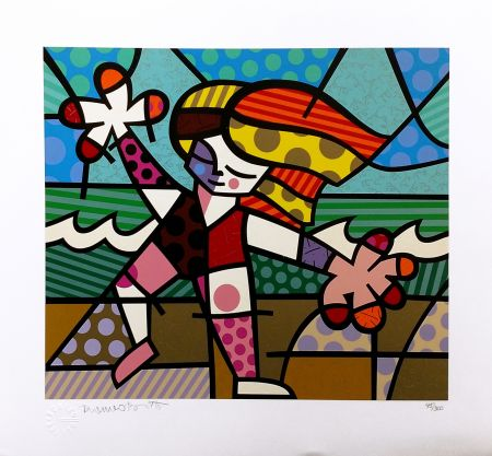 Sérigraphie Britto - GOLDEN BEACHES
