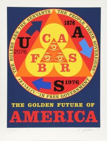 Sérigraphie Indiana - Golden Future of America