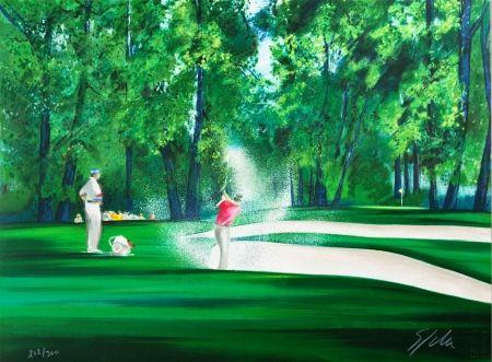 Lithographie Spahn - Golf