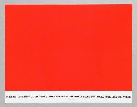 Sérigraphie Isgro - Gorbaciov corre nel rosso (Storie rosse)