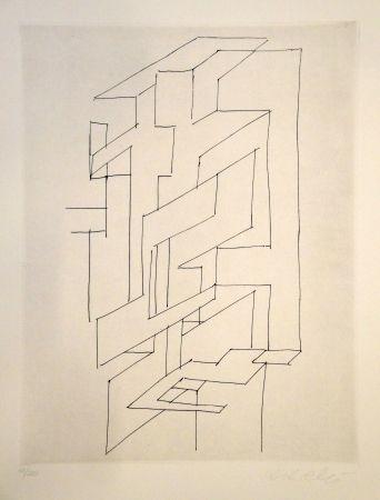 Gravure Vasarely - Gordes Gestalt