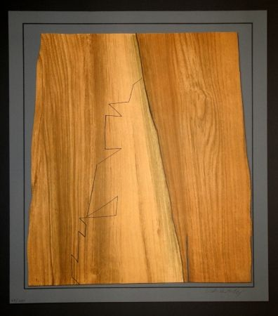 Gravure Vasarely - Gordes Nives
