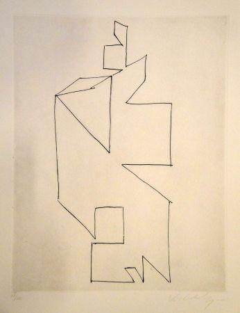 Gravure Vasarely - Gordes Synthèse