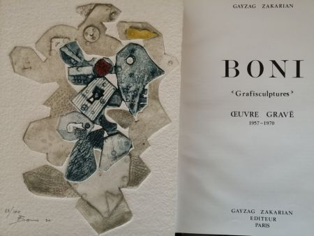 Livre Illustré Boni - Grafisculptures - Oeuvre gravé - 1957 - 1970