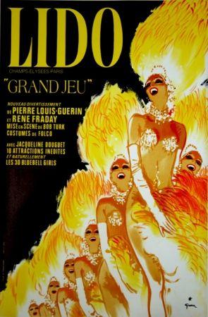 Lithographie Gruau - Grand Jeu Bluebell Girls