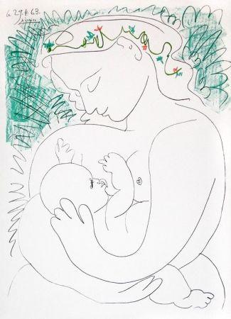 Lithographie Picasso - Grande Maternité