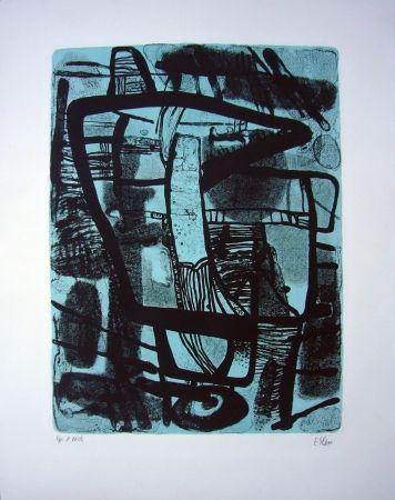 Lithographie Esteve - Grande noire