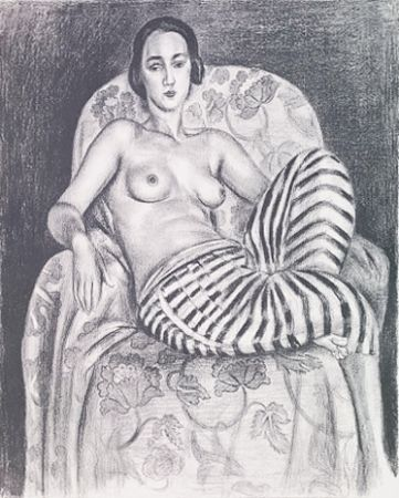 Lithographie Matisse - Grande odalisque à culotte bayadère