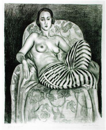 Lithographie Matisse - Grande odalisque à la culotte bayadère