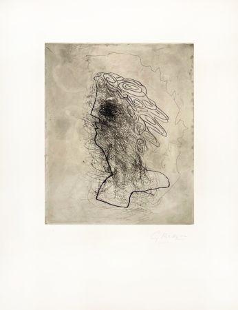 Gravure Braque - Grande tête