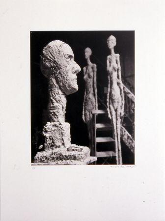 Lithographie Scheidegger - Grande tête en plâtre