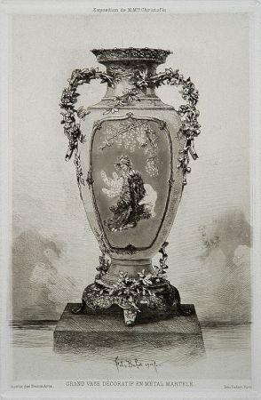 Eau-Forte Et Aquatinte Buhot - Grande vase décoratif