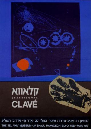 Affiche Clavé - Graphic Work MuseeTel Aviv 1973