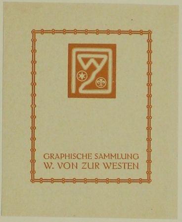 Gravure Sur Bois Fölkersam (Von) - Graphische Sammlung W. von Zur Westen