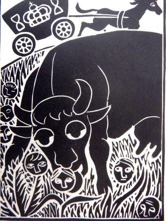 Linogravure Heerup - Grass II