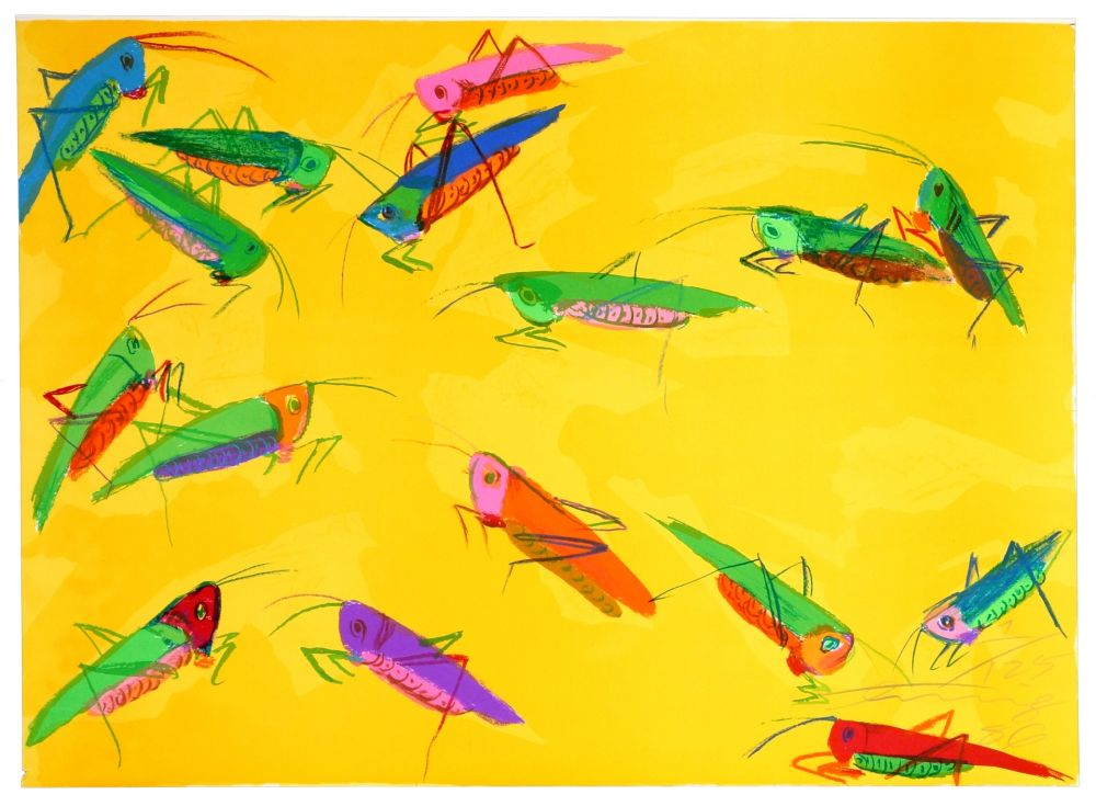 Lithographie Ting - Grasshoppers
