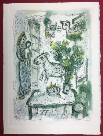 Eau-Forte Et Aquatinte Chagall - Gravure originale en couleur pour Life and Work (F. Meyer 1961)