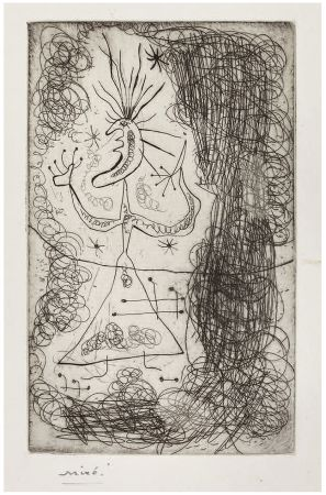 Eau-Forte Miró - Gravure pour