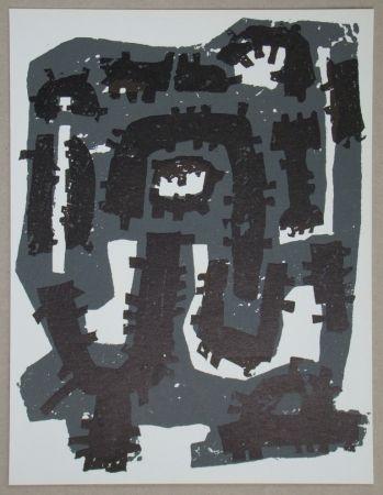 Lithographie Ubac - Gravure Sur Ardoise Pour Xxe Siècle
