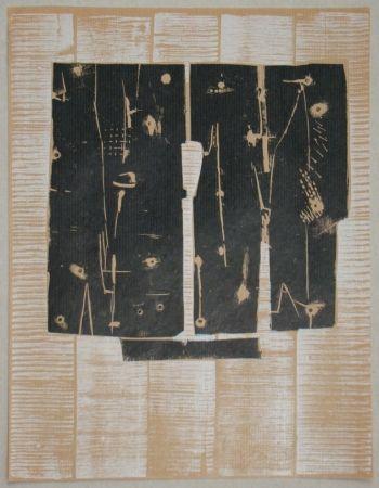 Gravure Sur Bois Consagra - Gravure sur bois pour XXe Siècle