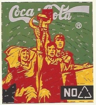 Lithographie Guangyi - Great criticism - Coca Cola