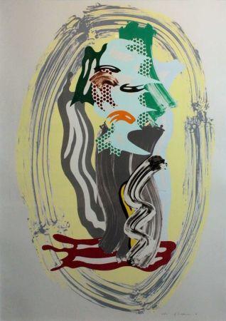 Lithographie Lichtenstein - Green Face, from Brushstroke Figures