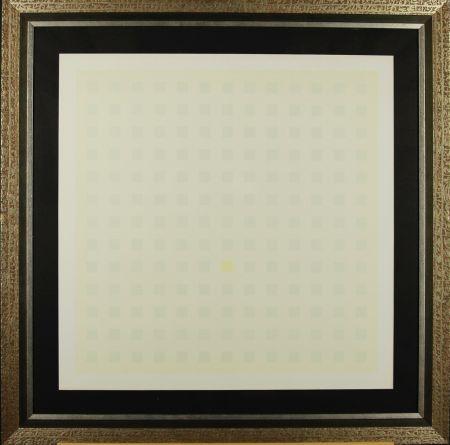 Sérigraphie Calderara - Green Squares