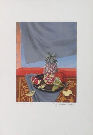 Lithographie Chapelain-Midy - Grenades et ananas
