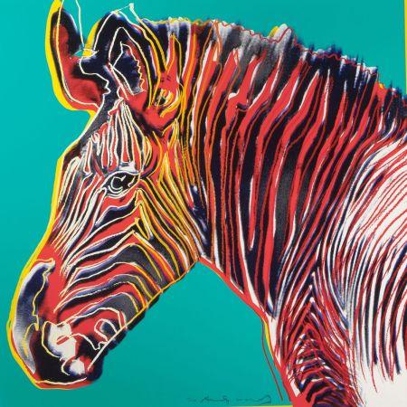 Sérigraphie Warhol - Grevys Zebra (FS II.300)