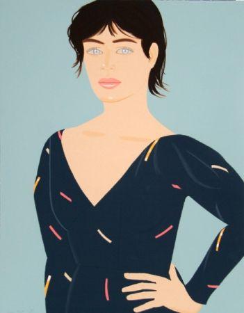 Lithographie Katz - Grey Dress (Laura) Diane von Furstenberg Dress