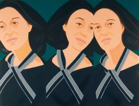 Sérigraphie Katz - Grey Ribbon