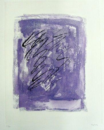 Eau-Forte Et Aquatinte Fautrier - Griffure sur fond violet