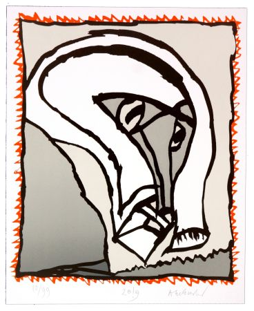 Lithographie Alechinsky - Griserie à minuit II
