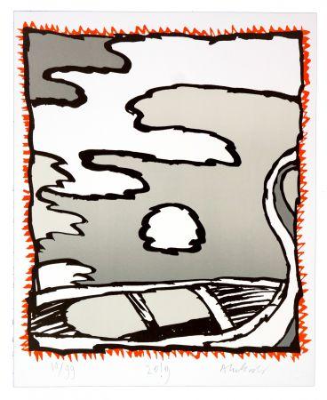 Lithographie Alechinsky - Griserie à minuit V