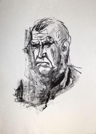 Lithographie Dix - Grosses Selbstbildnis / Large Self-Portrait