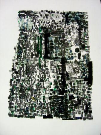 Lithographie Vieira Da Silva - GROTTES