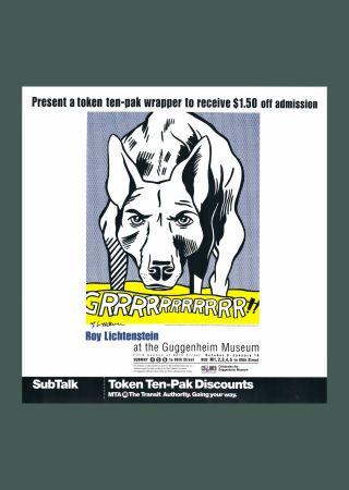 Lithographie Lichtenstein - 'Grrrrrrrrrrr!!' Hand Signed Pop Art Poster Print