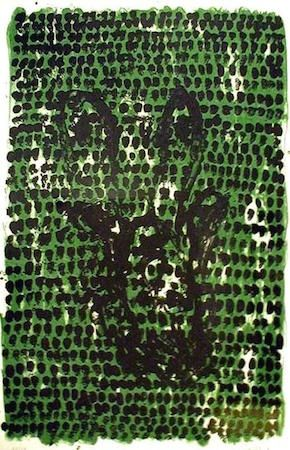 Lithographie Baselitz - Grunes Tuch (Green Cloth)