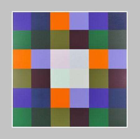 Sérigraphie Lohse - Gruppe von 8 Quadraten mit vier Rechtecken