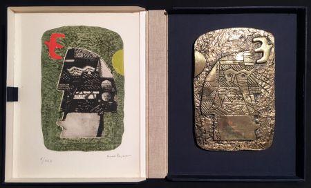Multiple Papart - GUERRIER. Un eau-forte signée et un bronze (1977).