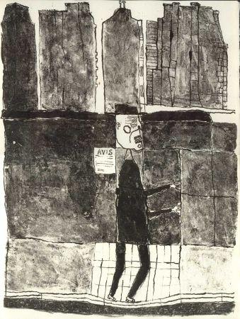 Livre Illustré Dubuffet - GUILLEVIC (Eugène). Les Murs.