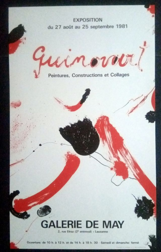 Affiche Guinovart - Guinovart - Peintures construccions et collages Galeria de May 1981